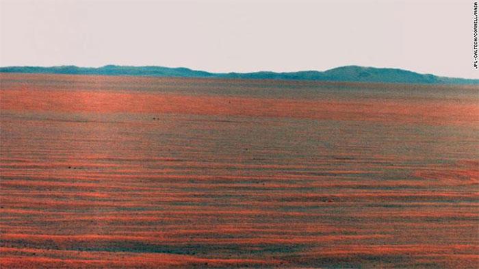 Hình ảnh panorama đường chân trời phía Đông sao Hỏa.