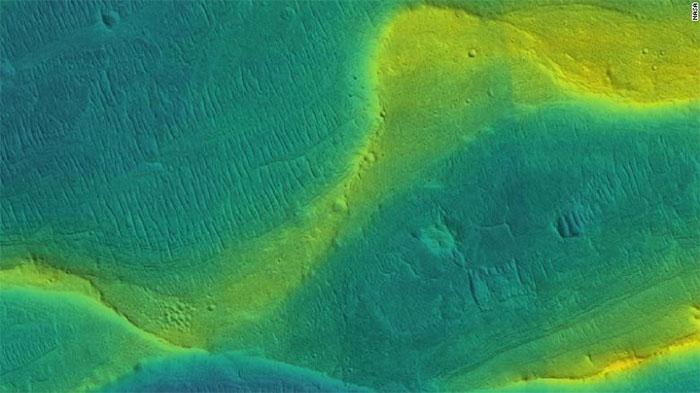 Một kênh sông trên sao Hỏa.
