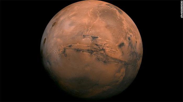 Hình ảnh bán cầu Valles Marineris của sao Hỏa chụp ngày 9/7/2013