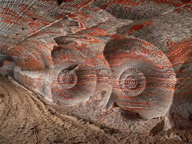 Hình ảnh mỏ khai thác potash ngầm Uralkali ở Berezniki, Nga.