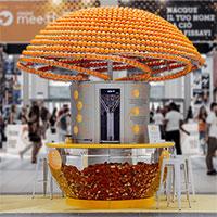 Máy nước ép không phát thải: Vỏ cam được tái chế trực tiếp thành cốc uống nước cam