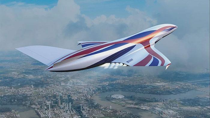 Thiết kế máy bay siêu thanh sử dụng tên lửa SABRE.