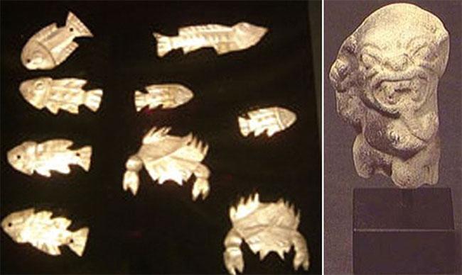 """Một phần bộ sưu tập của M.Medina với các bức tượng về nền văn minh """"ẩn dật"""" của người Tumaco."""
