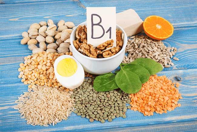 Thực phẩm giàu vitamin B1.