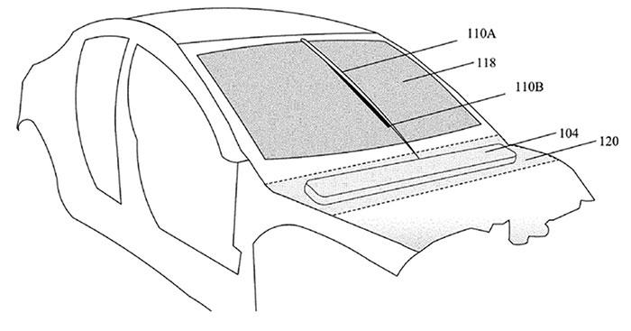 Thiết kế Tesla gắn cần gạt nước vào các thanh dẫn hướng điện từ.