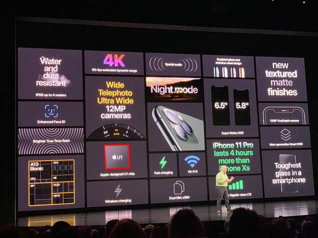 Có tiềm năng vô cùng lớn nhưng U1 lại chỉ xuất hiện mờ nhạt trong sự kiện Apple.