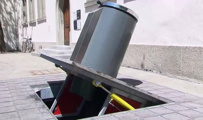 Hệ thống chứa rác của thành phố