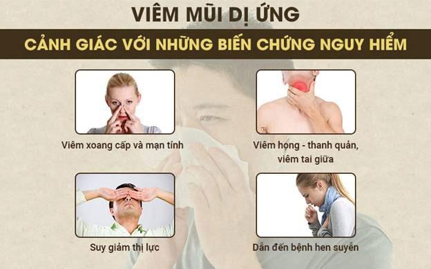 Biến chứng của viêm mũi dị ứng