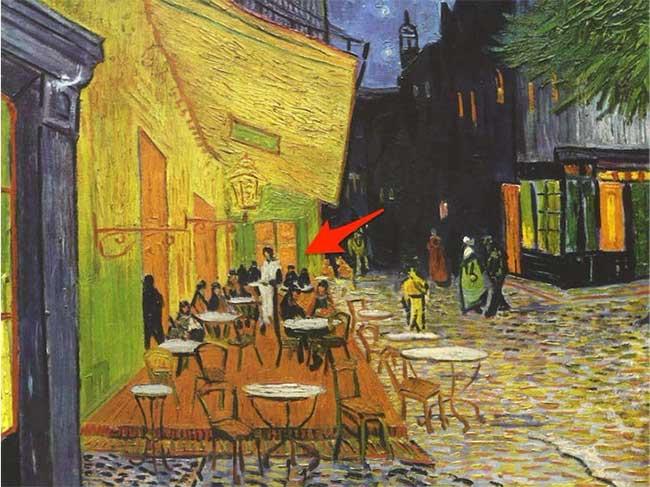 """Bức tranh """"Café Terrace at Night"""""""