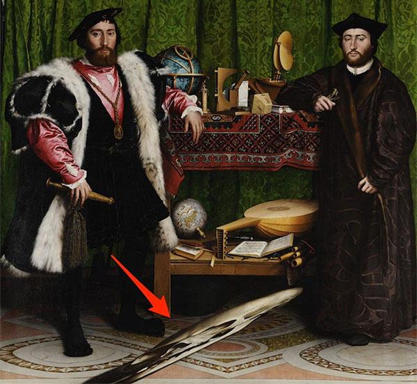 The Ambassadors là bức tranh nổi tiếng của danh họa người Đức Hans Holbein.