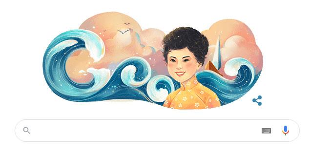 Google Doodle mừng kỷ niệm 77 năm ngày sinh nhà thơ Xuân Quỳnh.