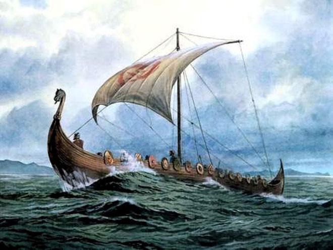 Chiến thuyền nức tiếng nhẹ và nhanh của người Viking.