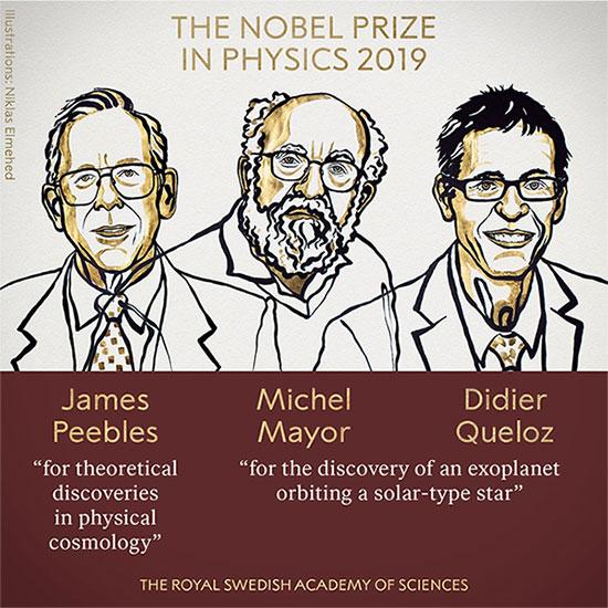 Ba nhà khoa học đoạt giải Nobel Vật lý 2019.