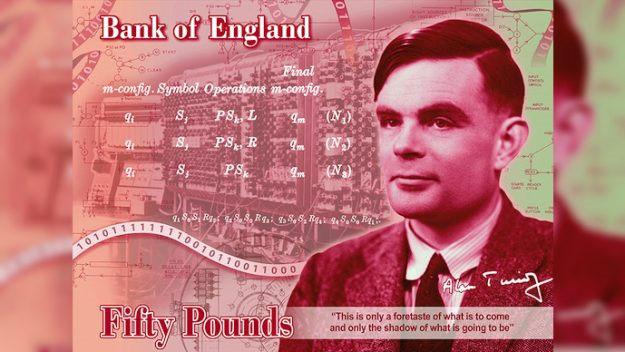 Chân dung Alan Turing sẽ xuất hiện trên tờ tiền 50 bảng Anh vào năm 2021.