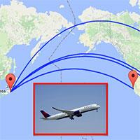 Tại sao các máy bay thường không bay ngang qua Thái Bình Dương?