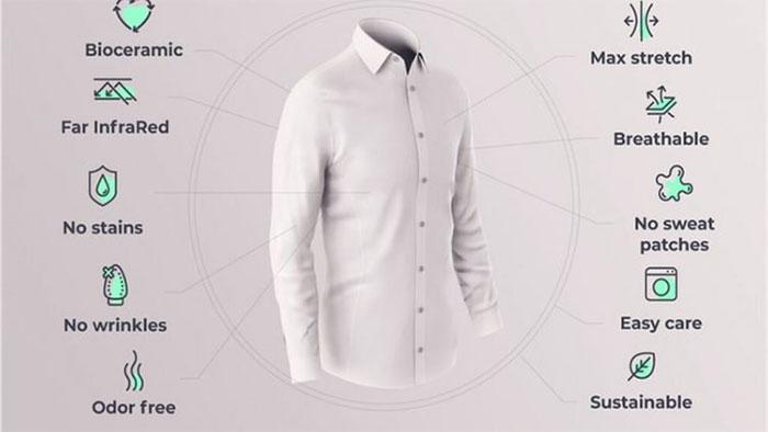 Ultimate Smart Shirt 3.0 sở hữu nhiều tính năng nổi trội, giúp người mặc chống mùi, giảm căng thẳng.