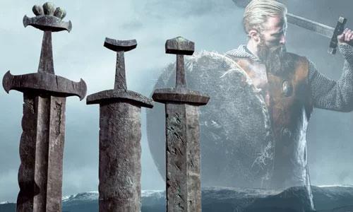 Một số thanh kiếm của người Viking.