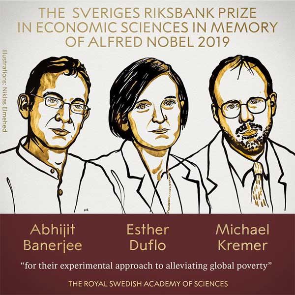 Những người đoạt giải Nobel Kinh tế 2019
