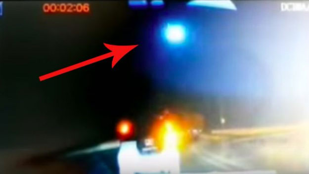 Hình ảnh quả cầu lửa bí ẩn rơi xuống Trung Quốc.