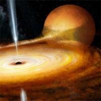 """Hố đen trong Dải Ngân hà lóe sáng dữ dội khi """"ăn"""" một ngôi sao"""