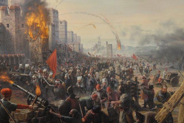 Để công thành Constantinople, vua Mehmet II đã dùng đến những khẩu súng thần công khổng lồ.