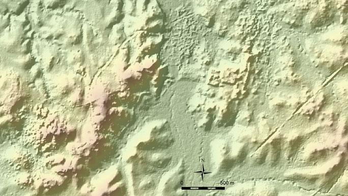 Một phần của bản đồ trưc tuyến, nơi các đền đài Maya bí ẩn được phát hiện