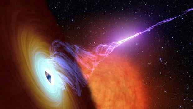 Luồng khí chảy vào hố đen