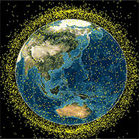 Rác vũ trụ đang bao vây Trái đất
