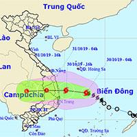 Áp thấp nhiệt đới mạnh lên thành bão số 5, hướng vào Bình Định - Phú Yên