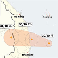 Chiều tối nay, bão số 5 đổ bộ đất liền từ Quảng Ngãi đến Khánh Hoà