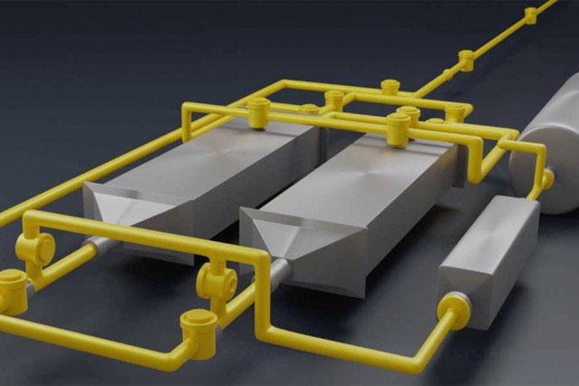 Phương pháp này dựa trên khả năng lọc không khí của một tấm vật liệu được cấp năng lượng bởi điện hóa học.