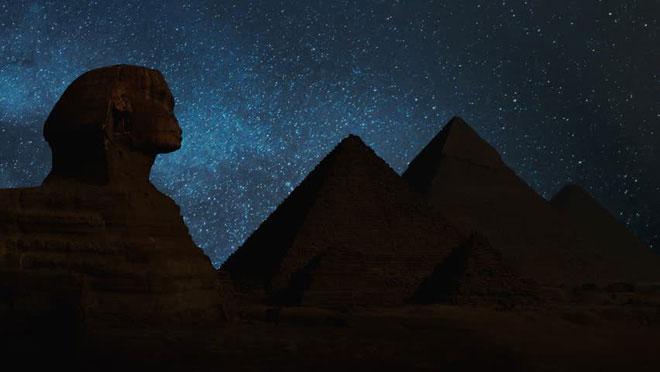 Sóng điện từ bị khuếch tán đều tập trung tại phòng trong của kim tự tháp cũng như ở đáy khối kiến trúc.