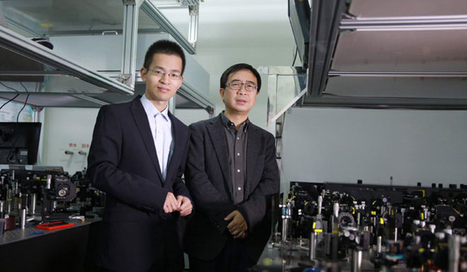 Hai nhà khoa học về công nghệ lượng tử hàng đầu của Trung Quốc.