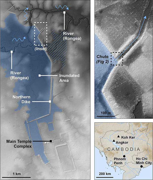Những cấu trúc được phát hiện bên dưới kinh đô Koh Ker.