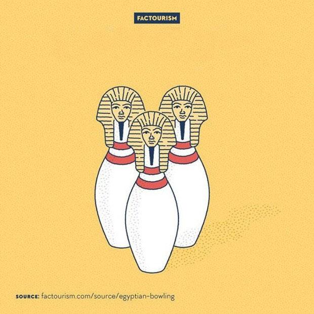 Người Ai Cập biết chơi bowling từ 5000 năm trước