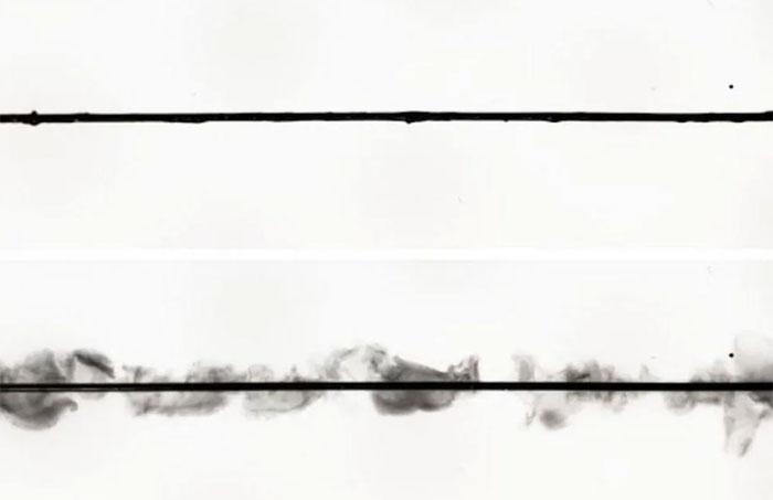 Hình ảnh của loại vật liệu mới khi chịu tác động của dòng điện.