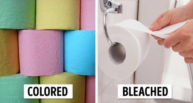 Giấy vệ sinh luôn là màu trắng