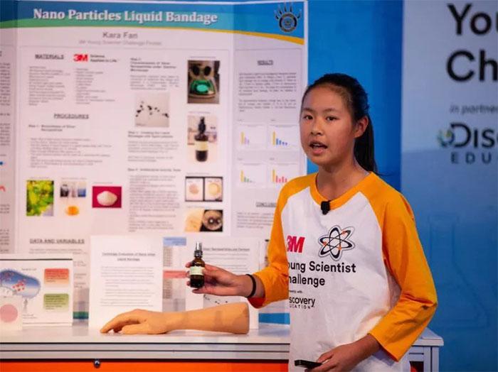 Kara Fan giới thiệu về sáng chếcủa mình.