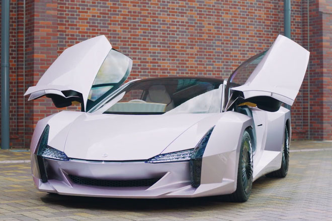 Xe được sản xuất từ vật liệu sợi nano xenlulozơ - cellulose nanofiber (CNF).