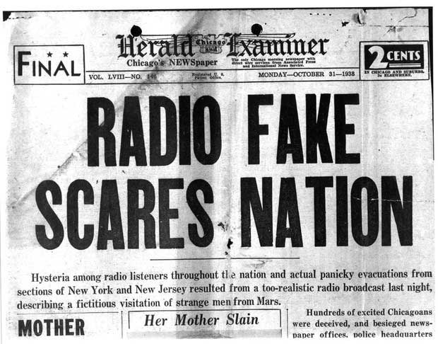 Chương trình radio cũng đã hù dọa được không ít người.