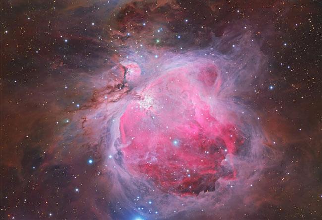 """Bức ảnh """"Tinh vân Lạp Hộ"""" (còn gọi là tinh vân Orion) nằm trong chòm sao Lạp Hộ."""