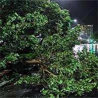 Bão Nakri gây mưa lớn, nhiều nơi mất điện