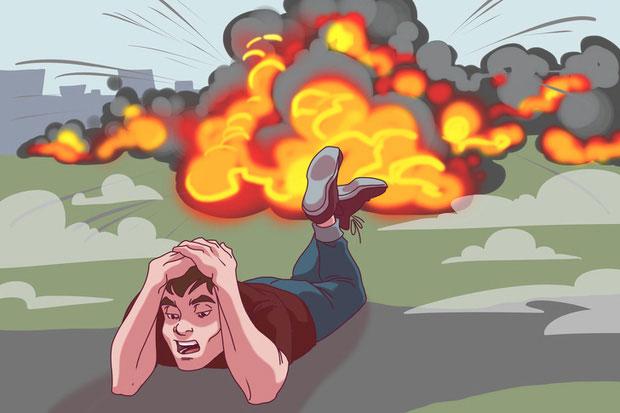 Khi bom nổ