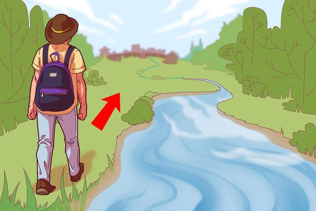 Khi bị lạc, hãy đi tìm các rãnh nước nhỏ