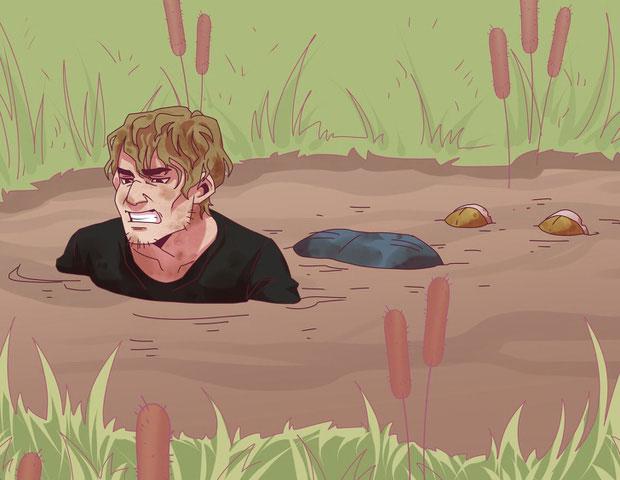 Khi rơi vào đầm lầy