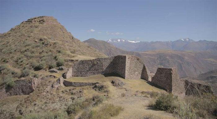 Khu khảo cổ Wat'a tại Peru với những dấu tích của người Inca.
