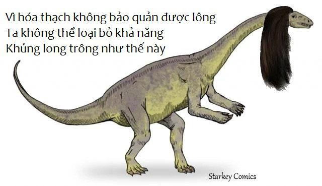 Vì hóa thạch không bảo quản được lông, ta không thể loại bỏ khả năng khủng long trong như thế này