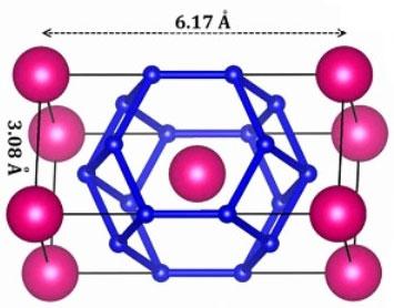 Cấu trúc tinh thể của thorium decahydride (ThH10).