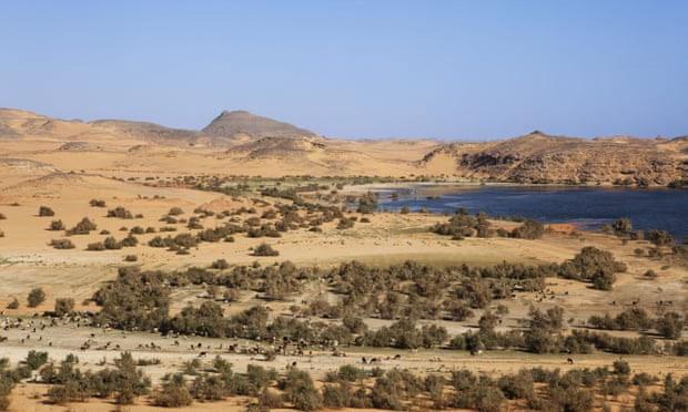Hồ Nasser ở Dakka, Ai Cập, nơi từng là lãnh thổ của đế chế Neo-Assyria.