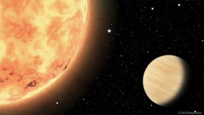 """Ảnh đồ họa mô tả hành tinh """"hỏa ngục"""" vừa được phát hiện"""
